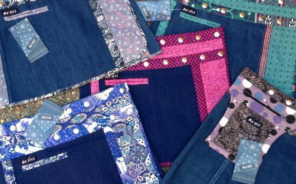 MOSHIKI kurze Jeans-Röcke