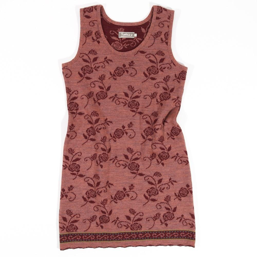 Flomax Kleid Billie aus 100% Bio Schurwolle Rosenholz / dunkelrot (Burgund) Gr. S