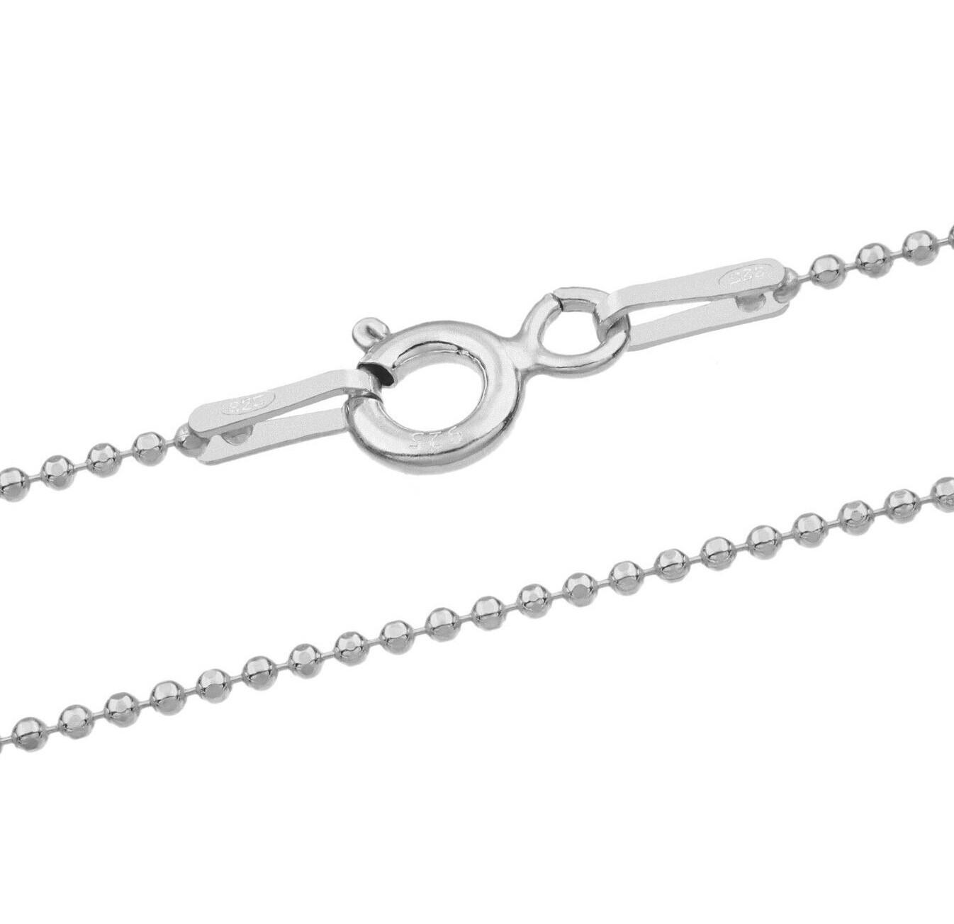 Filigrane Kugelkette aus 925er Silber - in diversen Längen wählbar