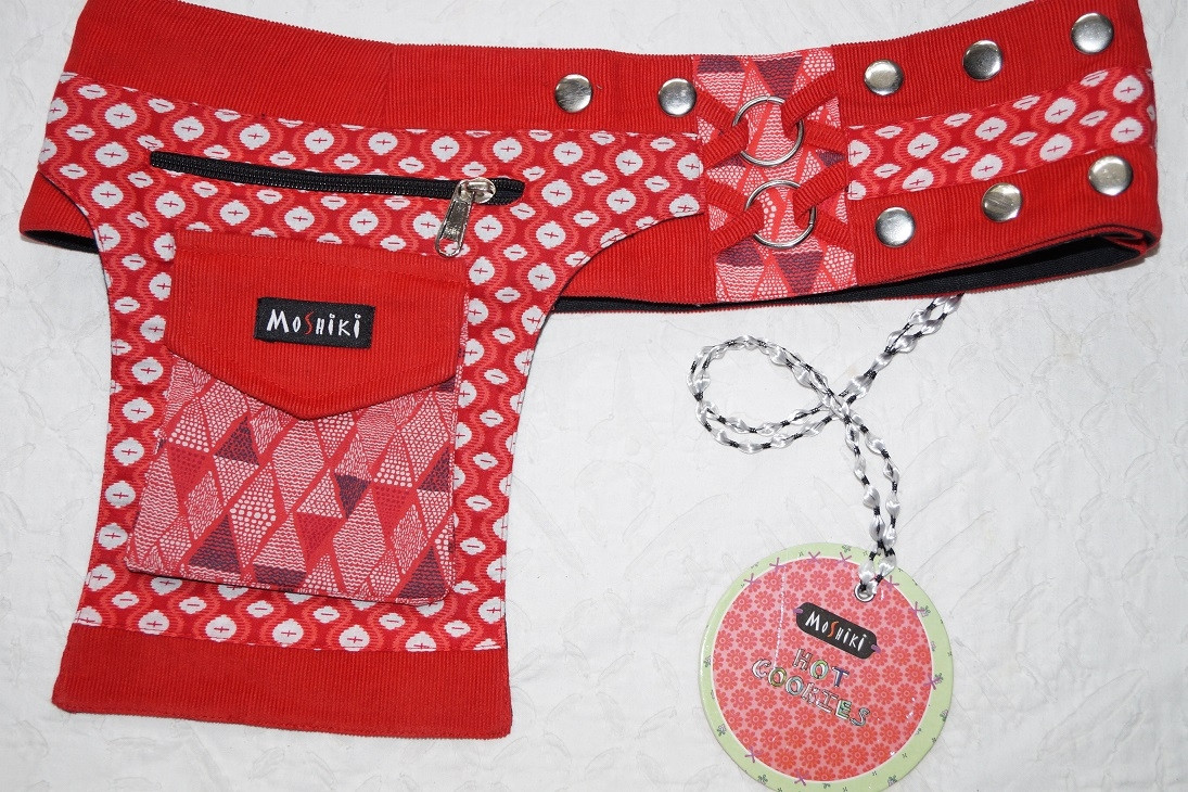 Moshiki Hot Belt YOFI Die praktischde Hip Bag für Handy & co 7835 rot