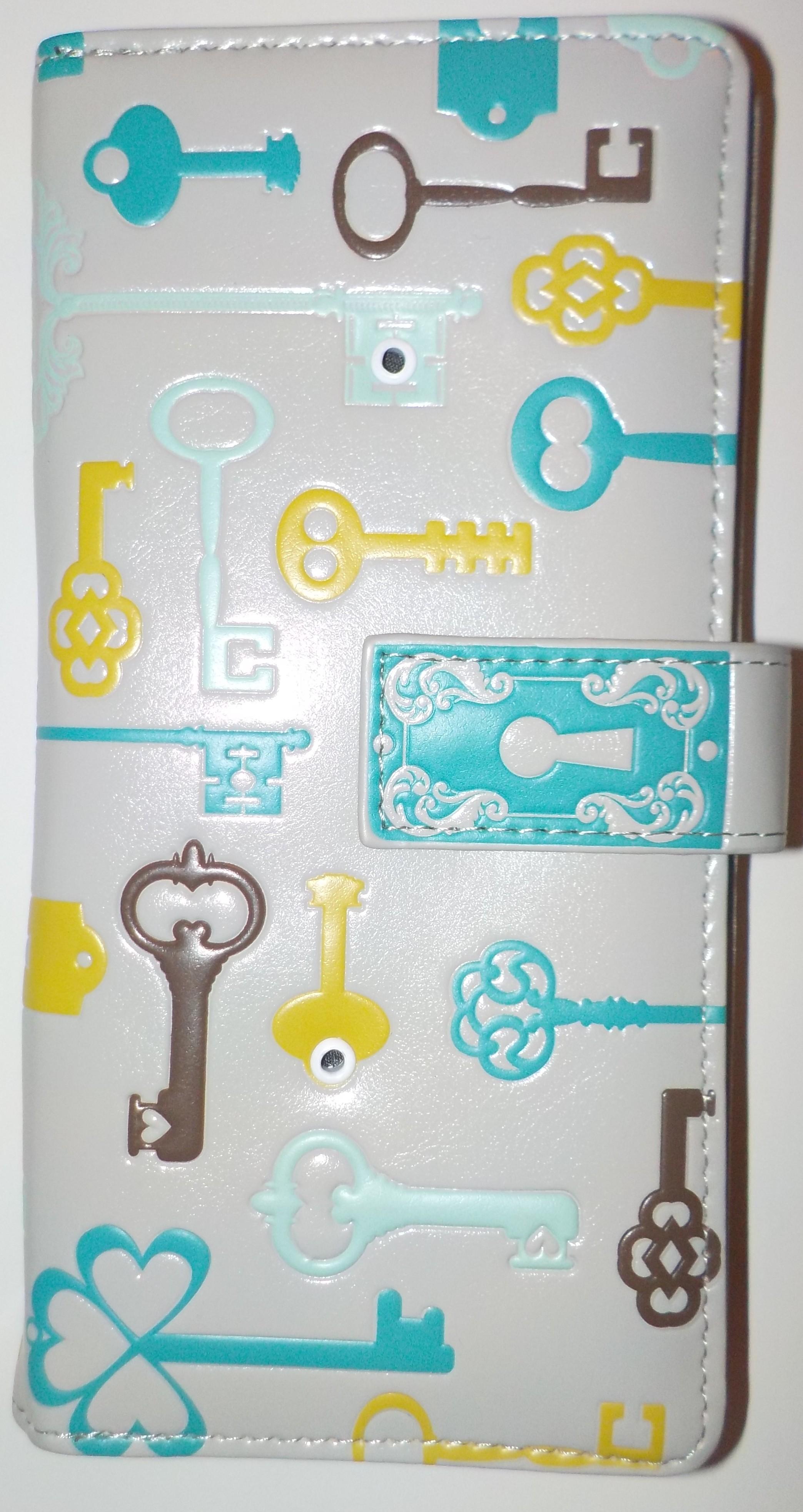 """Langbörse """"Schlüssel"""" - grau - neue Einteilung mit gr. Münzfach"""