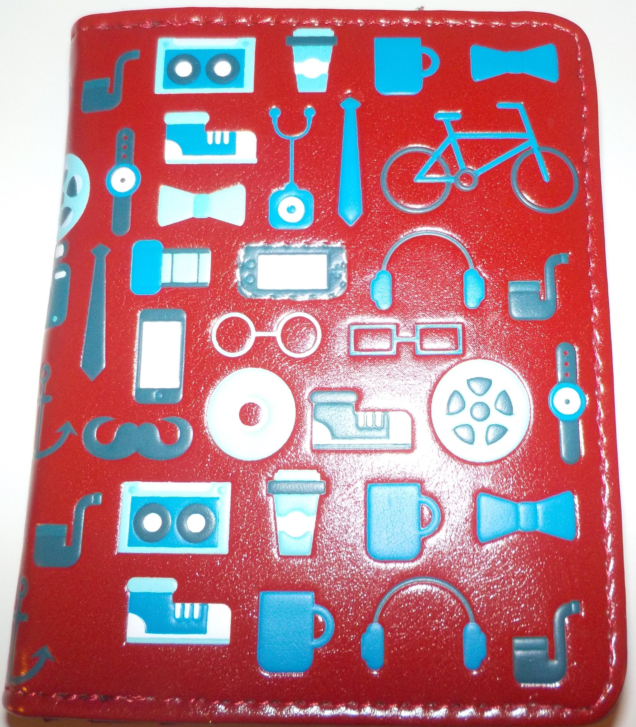 """Shag Wear Kurzbörse Portemonnaie """"Technik"""" - rot - mit gr. Münzfach & Reißverschluss"""