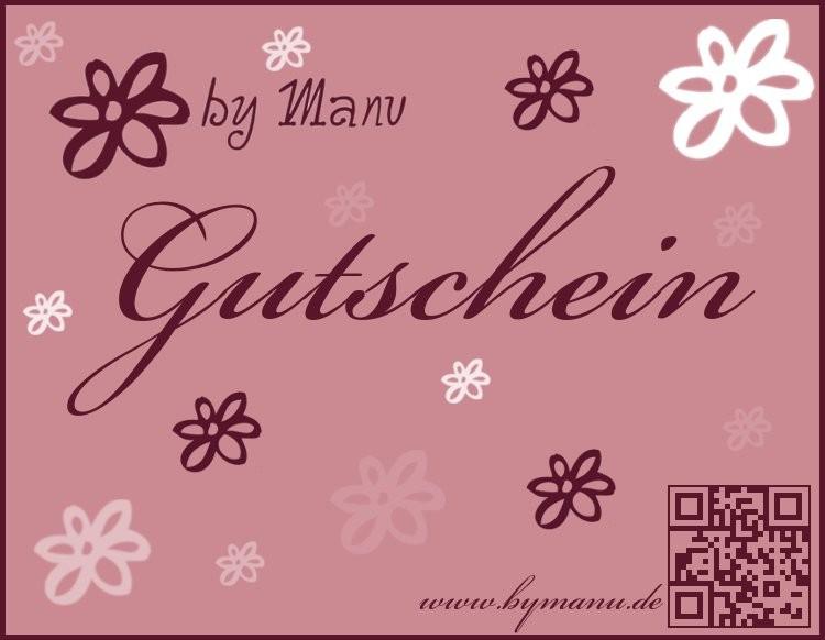by Manu Geschenkgutscheine 20,00€