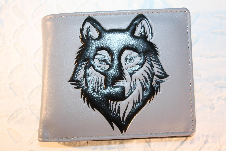 """Shag Wear Herren Portemonnaie Geldbörse """"Wolf"""" - grau / schwarz"""