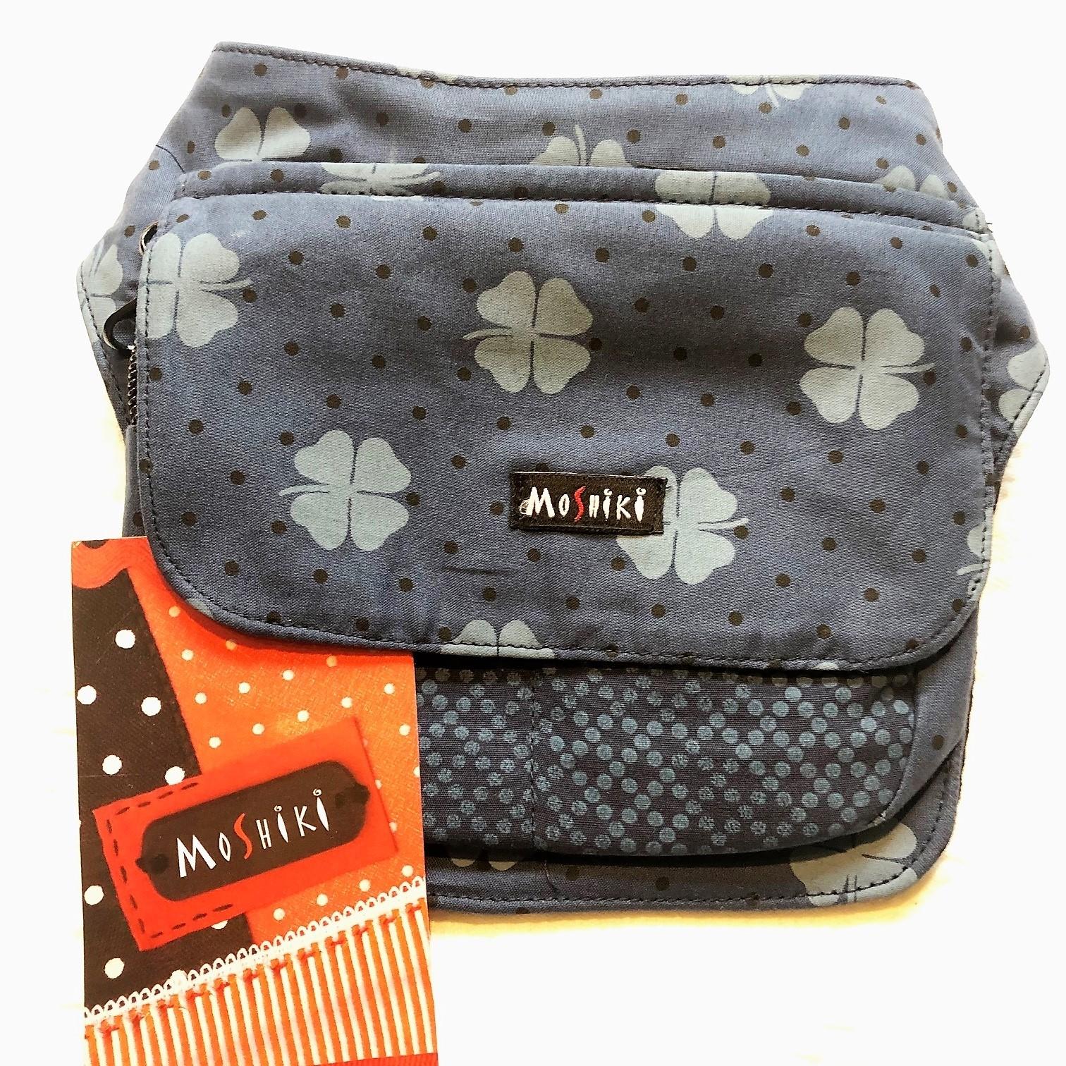 Moshiki Hot Belt #6 LONDON Hüfttasche mit praktischen Unterteilungen 8572 blau