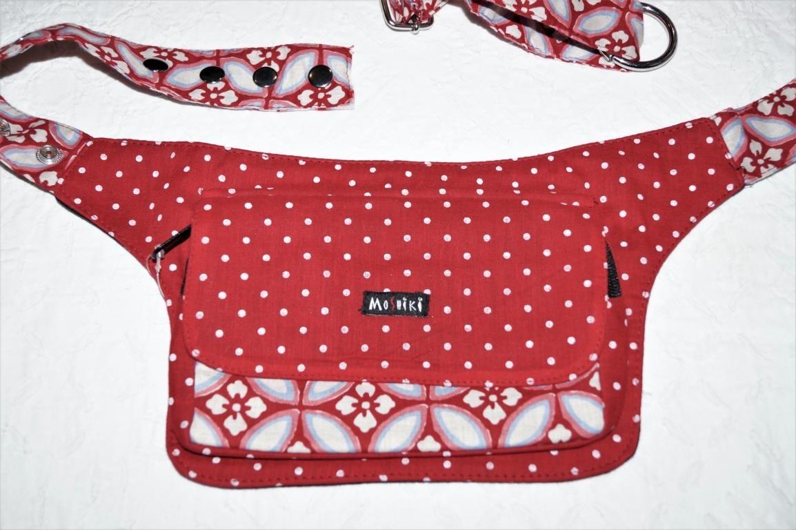 Moshiki Hot Belt #14 mit praktischen Unterteilungen für Handy & co 8494 rot
