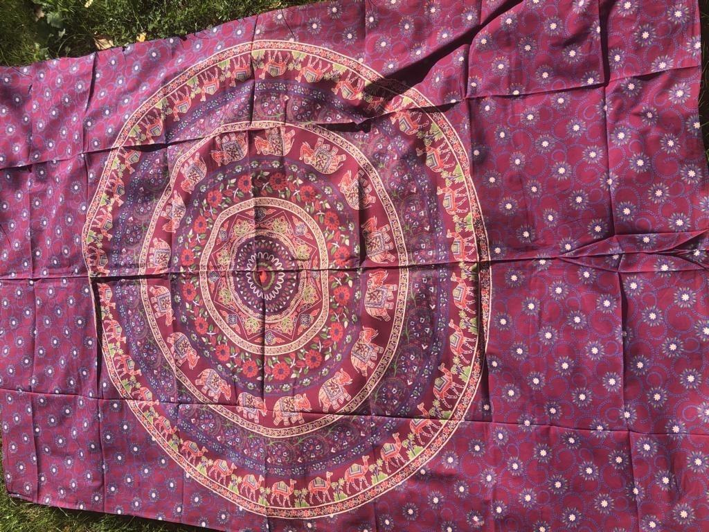 Mandala Tuch * 100% Baumwolle * Nr. 33 bordeaux