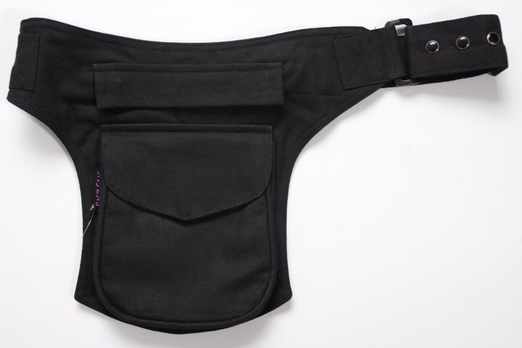 Moshiki Hot Belt MADRID geräumige Hüfttasche mit praktischen Unterteilungen schwarz