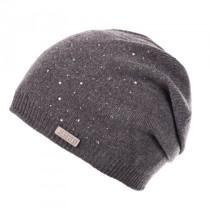 Moshiki Jannu weiche Strick Mütze mit Strasssteinchen grau