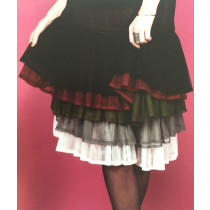 MOSHIKI Unterrock für Röcke & Kleider * er blitzt 5-10cm hervor - 45 cm - dunkelrot oder grau