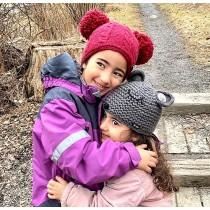 Moshiki Kinder-Mütze dunkelrot
