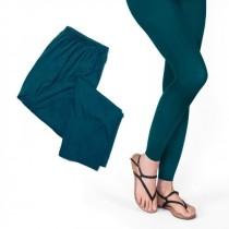 Moshiki Leggings Hot Leg Long - 95% Viscose - One Size - petrol