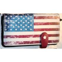 Shag Wear Langbörse USA Flagge schwarz