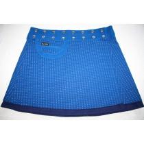 MOSHIKI #3 Bagel XL long  45 cm Feincord Baumwolle Wickel-Wende-Rock 38281 blau