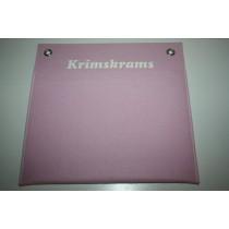 """Utensilo """"KRIMSKRAMS"""" für die Wand in rosa - 100% Wollfilz handarbeit"""