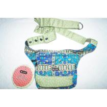 Moshiki Hot Belt #6 LONDON Hüfttasche mit praktischen Unterteilungen 8585 grün / blau