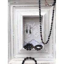 GlücksKette by Manu - 80 cm lang mit 83 Onyx Perlen - Selbstbewustsein, Durchsetzungskraft & Lebensfreude