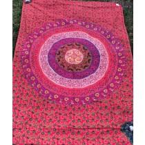Mandala Tuch * 100% Baumwolle * Nr. 04 rot