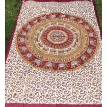 Mandala Tuch * 100% Baumwolle * Nr. 06 braun