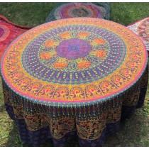 Mandala Tuch * 100% Baumwolle * Nr. 10 lila / gelb