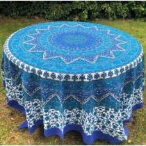 Mandala Tuch * 100% Baumwolle * Nr. 14 blau