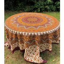 Mandala Tuch * 100% Baumwolle * Nr. 16 gelb / braun