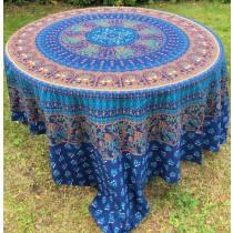 Mandala Tuch * 100% Baumwolle * Nr. 17 blau