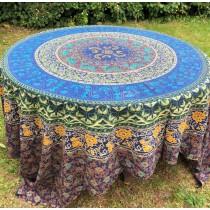 Mandala Tuch * 100% Baumwolle * Nr. 19 blau / bunt