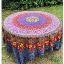 Mandala Tuch * 100% Baumwolle * Nr. 20 pink / lila / bunt