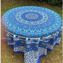 Mandala Tuch * 100% Baumwolle * Nr. 22 blau