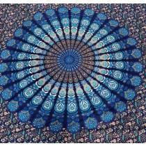 Mandala Tuch * 100% Baumwolle * Nr. 26 petrol / türkis