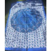 Mandala Tuch * 100% Baumwolle * Nr. 30 blau / weiß