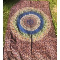 Mandala Tuch * 100% Baumwolle * Nr. 31 blau / grün / bunt