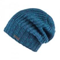 Moshiki Mützen Leera No.1  Woll-Strick-Mütze Beanie blau / türkis