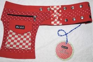 Moshiki Hot Belt YOFI Die praktischde Hip Bag für Handy & co 7837 rot
