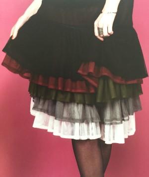 """MOSHIKI """"Antoinette"""" short der bezaubernde Unterrock für die MOSHIKI Miniröcke, welcher 5-10 cm unter den Röcken hervorblitzt - 45 cm - schwarz, dunkelrot, grau oder weiß"""