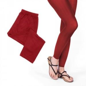 Moshiki Leggings Hot Leg Long - 95% Viscose - One Size - rot