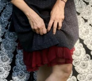 MOSHIKI Unterrock für Röcke & Kleider * er blitzt 5-10cm hervor - 55 cm - dunkelrot oder grau