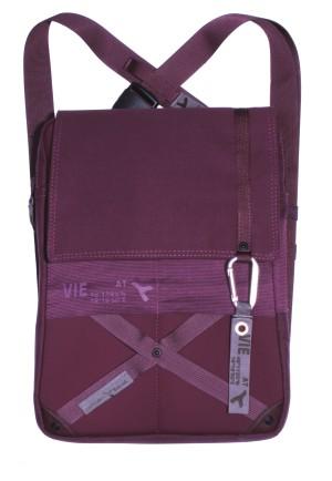 URBAN TOOL tabBag * Umhänge- und Hüfttasche - auch als Rucksack *  berry - ideal für Tablets & Labtops
